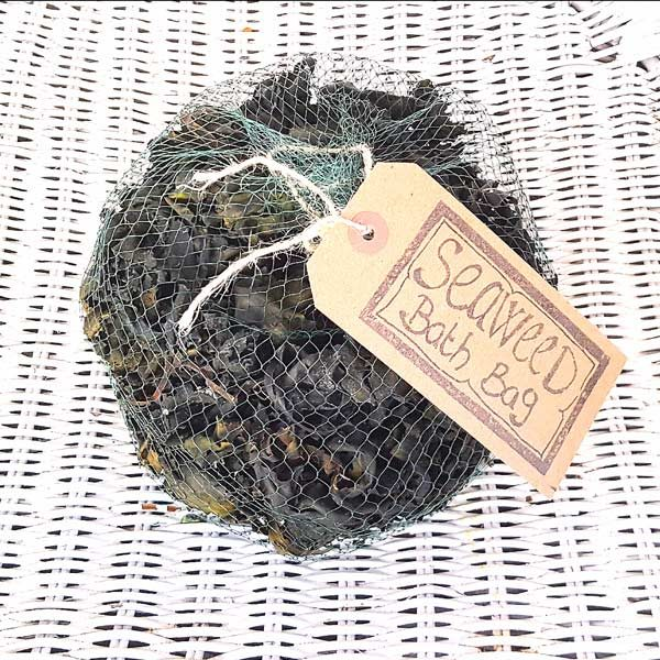 net bag containing dried seaweed